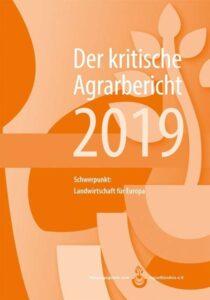 Cover eines Buches, der kritische Agrarbericht 2019