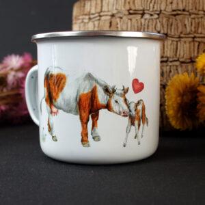 Tasse Kuh und Kalb gehören zusammen