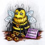 Bienen-Postkarte