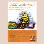 """Postkarte Bienen """"Bee with me!"""""""