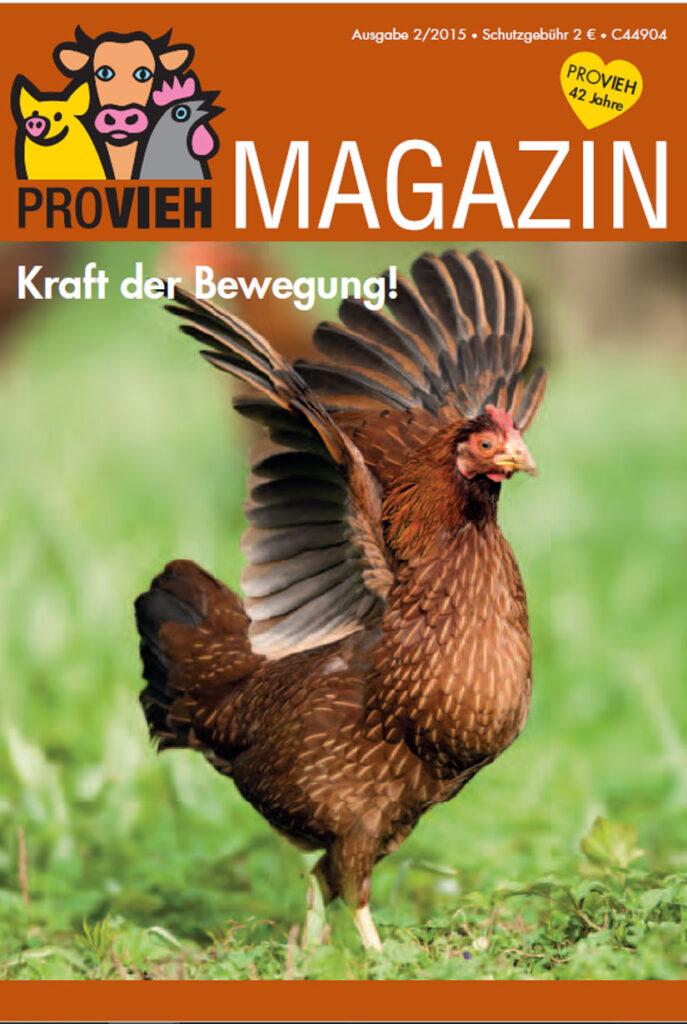 Cover, ein Huhn streckt ihre Flügel