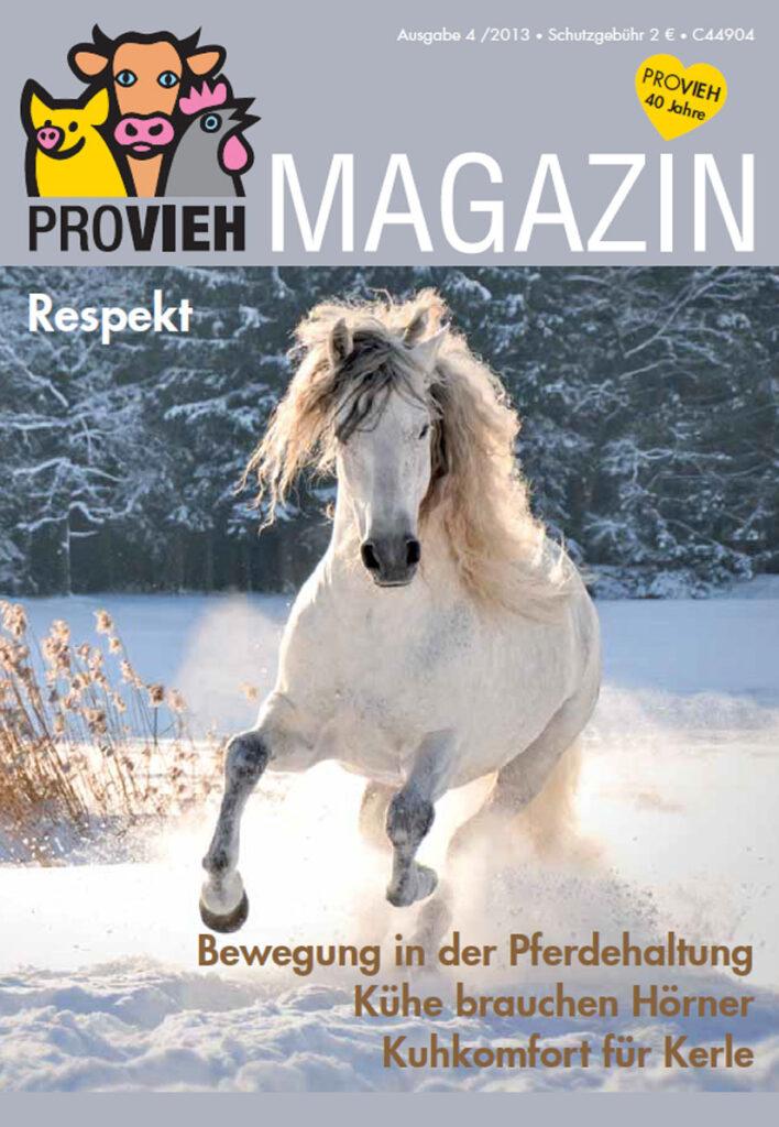 Cover, ein weißes Pferd im Schnee