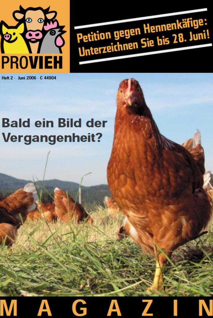 Cover, eine Hühnergruppe auf einer Wiese