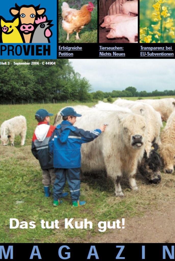Cover, zwei Kinder streicheln eine Kuh