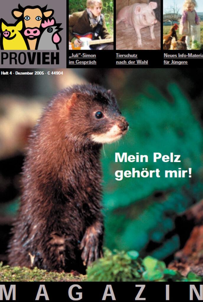 Cover, Ein Frettchen