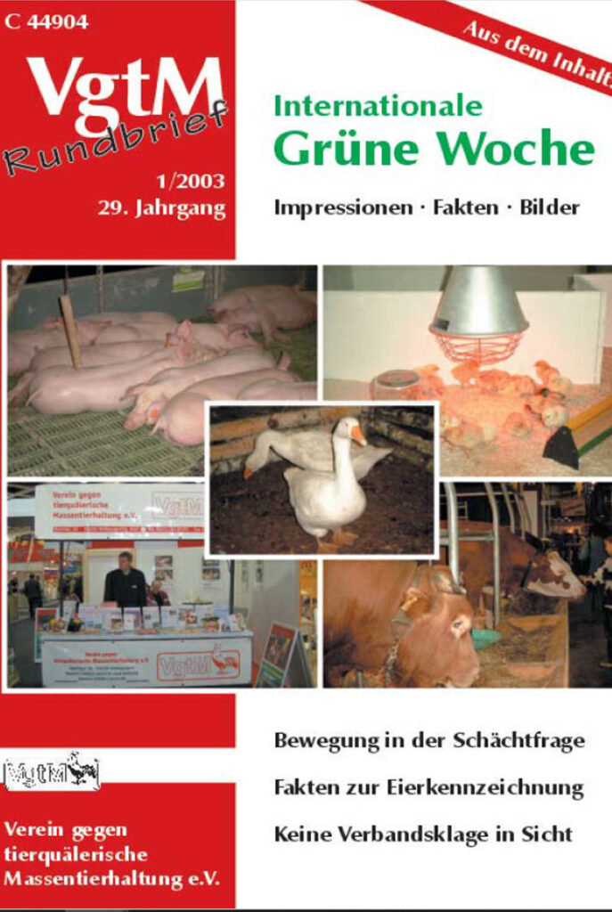 Cover, Tierhaltung
