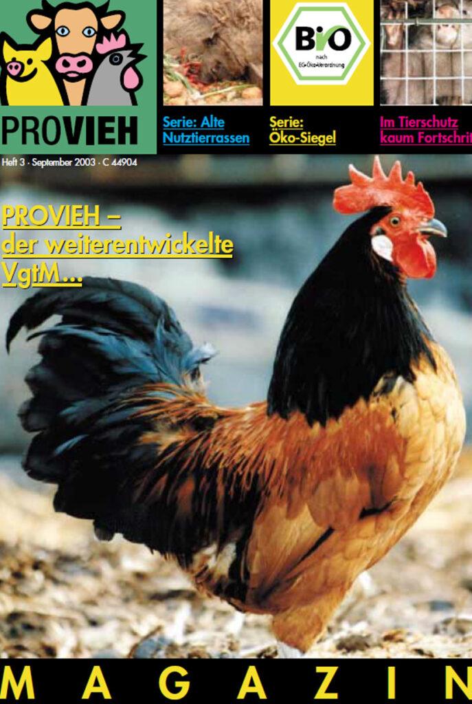 Cover, ein prächtiger Hahn