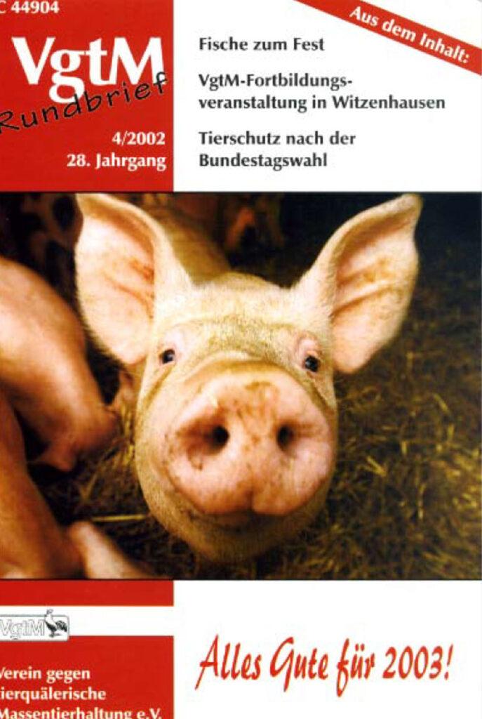 Cover, ein Schwein schaut neugierig in die Kamera