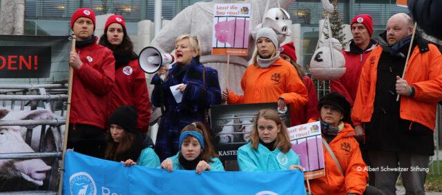 Protestaktion gegen den Kastenstand