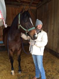 Dagmar Flaig und ein Pferd