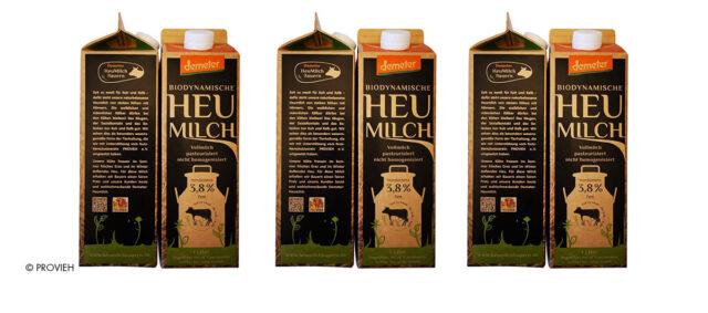 neue Milchverpackung mit Kuh plus Kalb Sigel