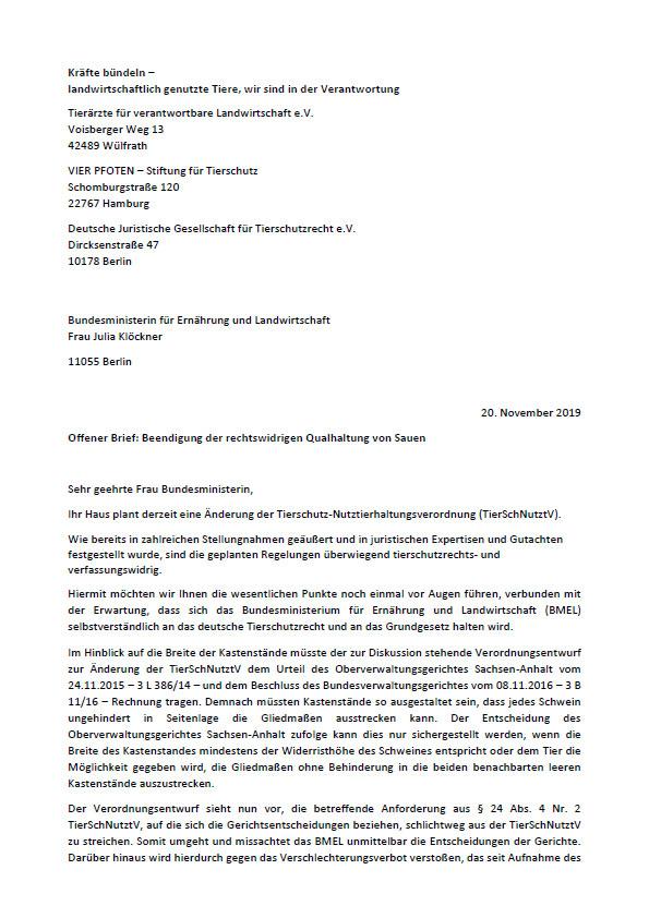 Offener Brief Kloeckner