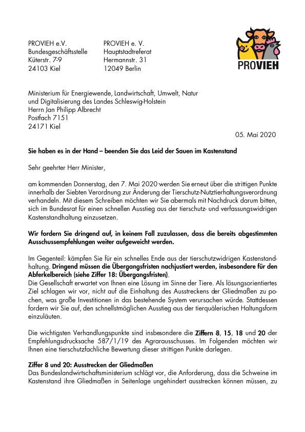 Offener Brief Kastenstand Bund Länder Sitzung