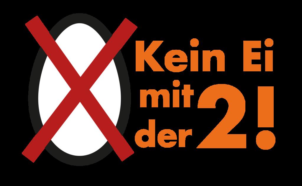 Logo Kein Ei mit der Zwei