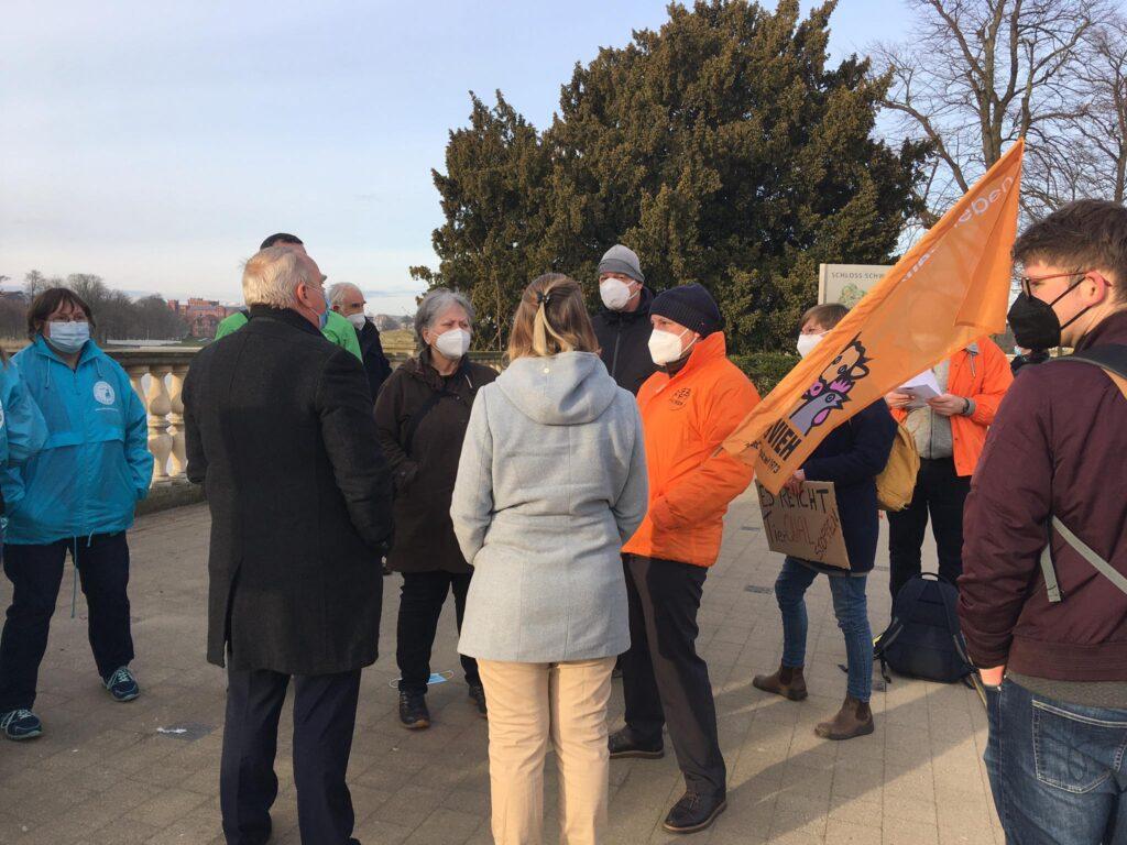 Auf einer Demonstration