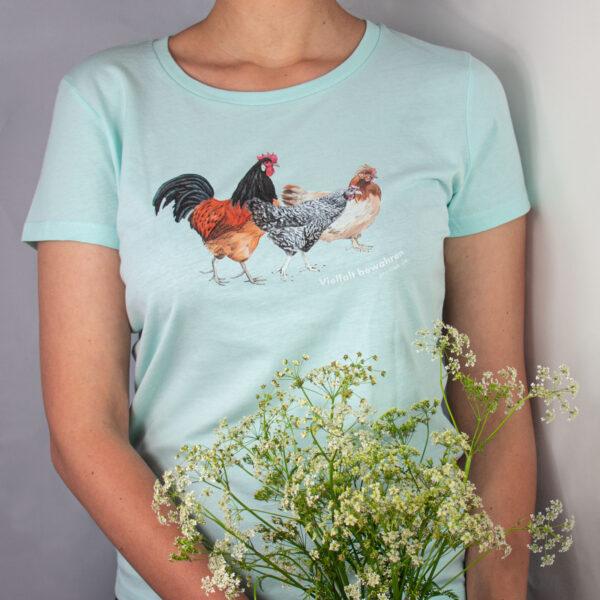 Tshirt mit Hühnerdruck