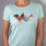 Damenshirt mit Hühnermotiv
