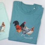 T-Shirt mit Hühneraufdruck