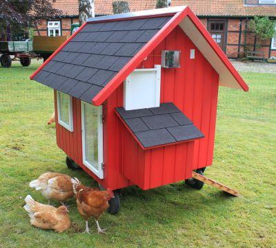 Ein mobiles Hühnerhaus