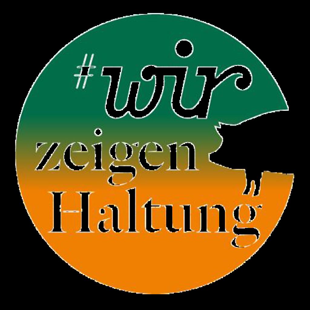 Wir zeigen Haltung Logo